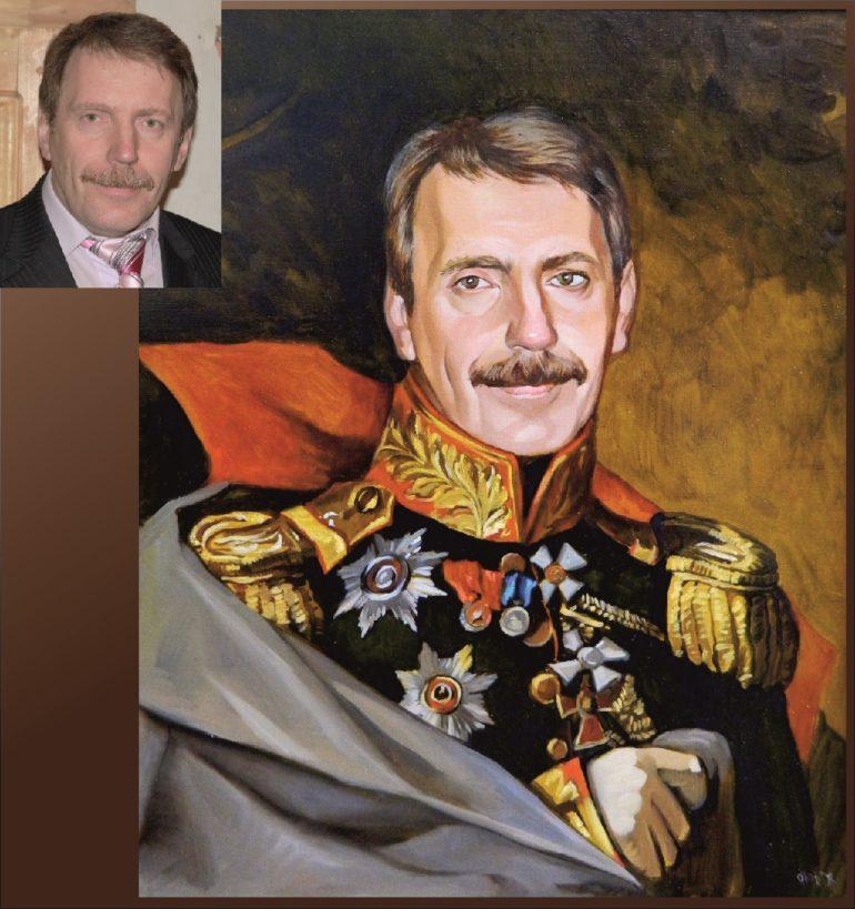 Настоящий портрет маслом на заказ в Томске…