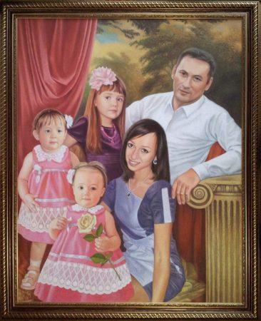 Семейный портрет маслом в Томске — правильная традиция…