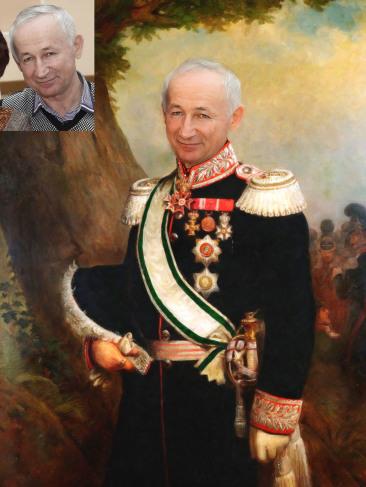 Где заказать исторический портрет по фото на холсте в Томске?