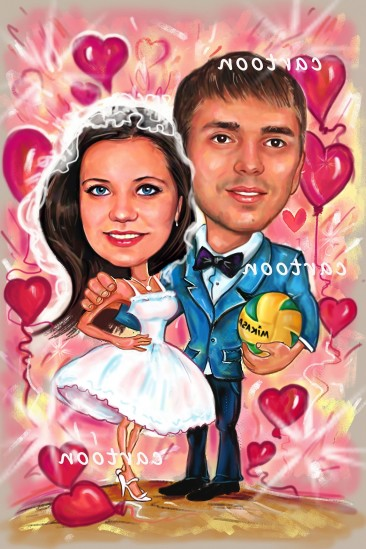 Свадебный шарж с оригинальным сюжетом в Томске!
