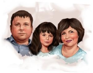 Портрет для молодой семьи