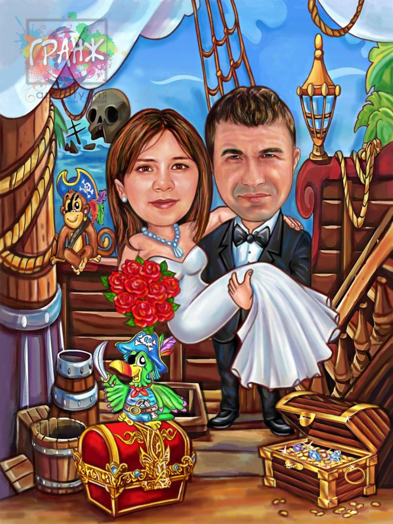 шарж с фотографии на заказ в томске