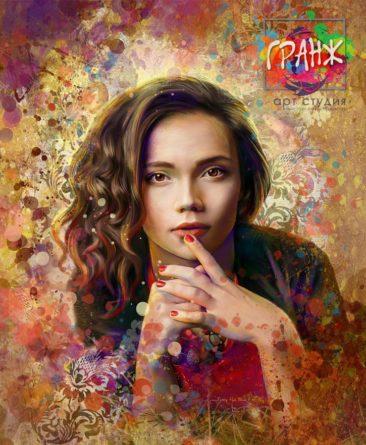 Портрет по фото, подарок на 14 февраля заказать Томск