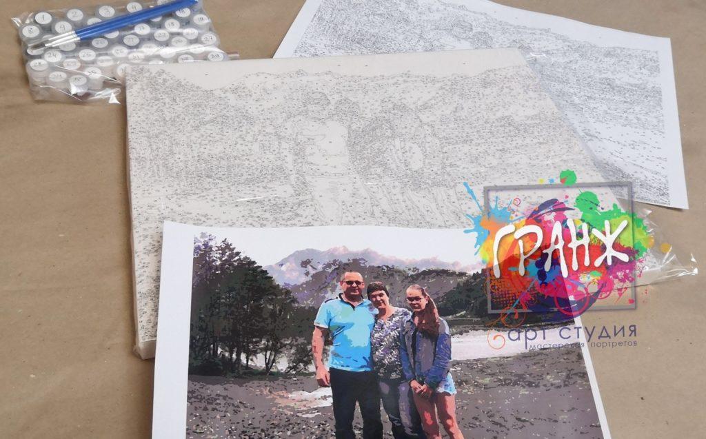 картин по номерам на холсте по фото в Томске