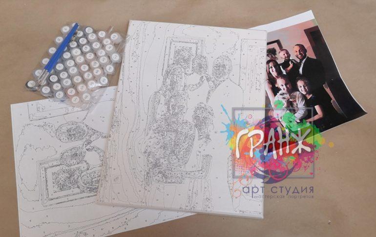 Картина по номерам по фото, портреты на холсте и дереве в Томске